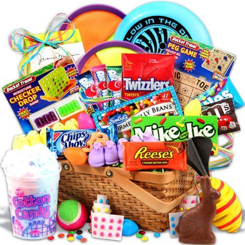 310 best easter images on pinterest easter 4x4 and animated gift idea easter candy and toys basket negle Images