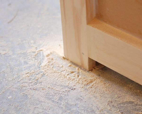 sanding and priming MDF furniture for a new paint job