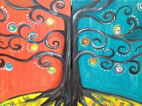 Calling all #couples- come on out and paint this Couples Painting - 11.15.14 - #couplesnight #datenight