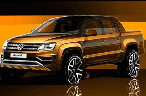 Компания Volkswagen показала тизер обновленного пикапа Amarok 2016