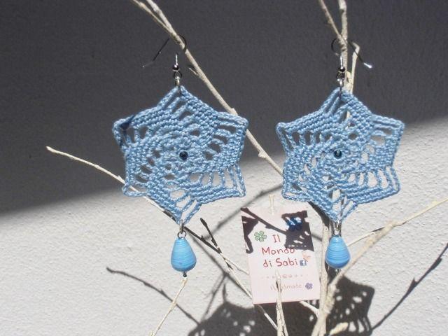 Orecchini all'uncinetto, boucles d'oreilles crochet, crochet earrings : Orecchini di il-mondo-di-sabi