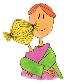 Vater und Tochter umarmen | Padre e hija se abrazan