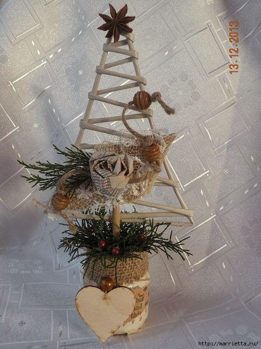 С Наступающим Новым годом по старому стилю! Новогоднее плетение из газет