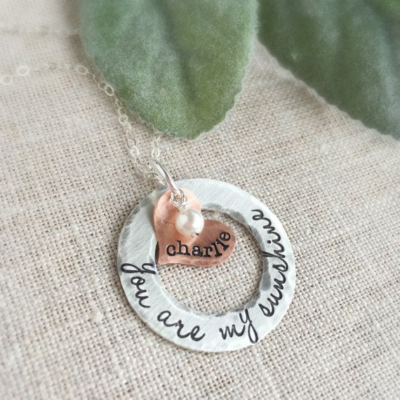 Save 10% NOW on this personalized necklace.  Coupon code... PIN10