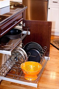 Two Tone Kitchen - traditional - cabinet and drawer organizers - providence - Kitchens by Design Inc.