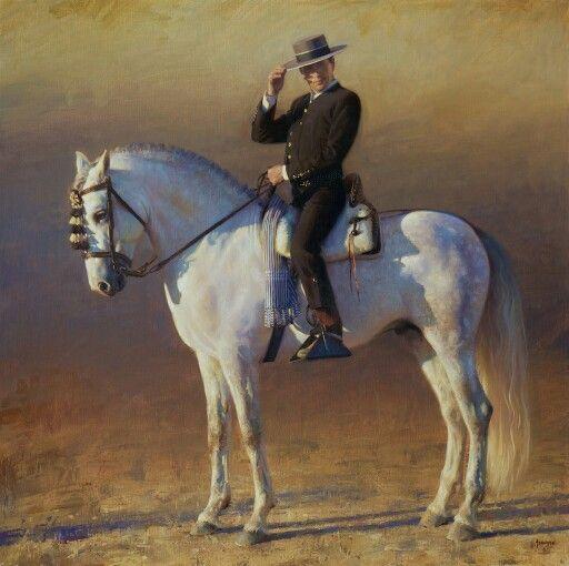 The Andalusian Horseman (Mario Contreras & Santiago) ©James Tennison //USA