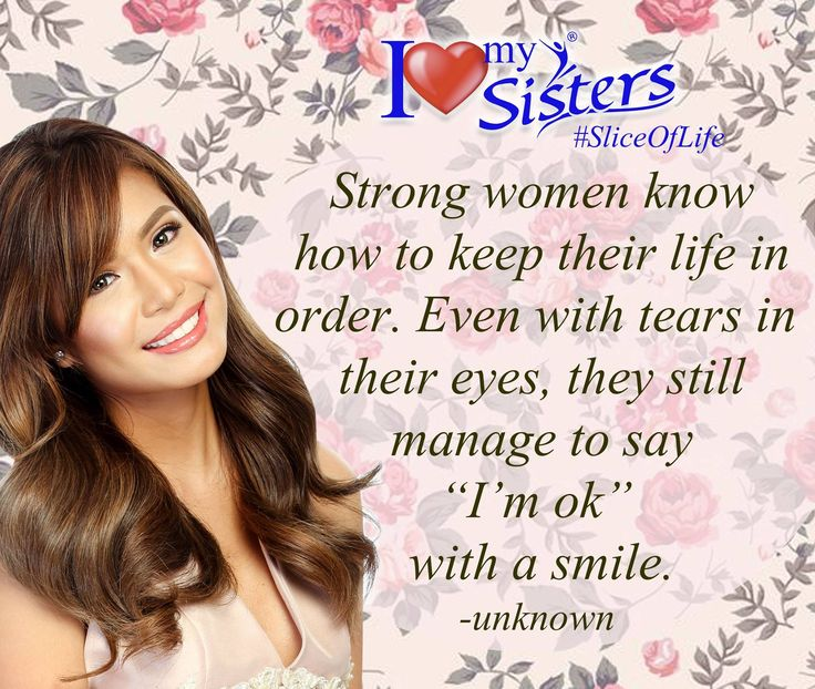 Behind her smile is a hurting heart, behind her laugh she's falling apart. #SistersPH #WeAreOneWeAreSister #StandProud #SliceOfLife #Smile