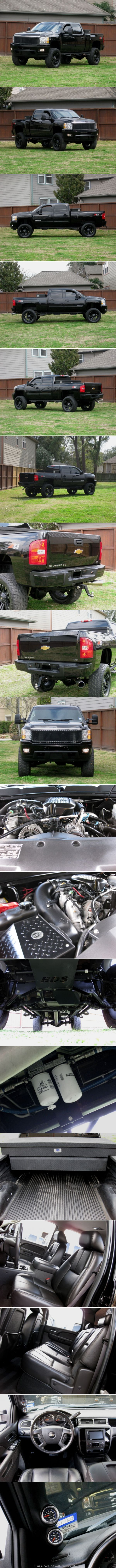 2010 Chevrolet Silverado 2500HD - Duramax diesel + Allison transmission. Crew cab w/ short bed. It comes with LTZ package (Navigation, leather + heated seats, dual power seats, dual climate control, parking sensors, XM, OnStar, and more). 8in BDS suspension lift, custom grill, 22in XD Monster rims, 37in brand new tires and much more! The exterior of this truck is in excellent shape just like a new one. The interior is also in excellent shape.