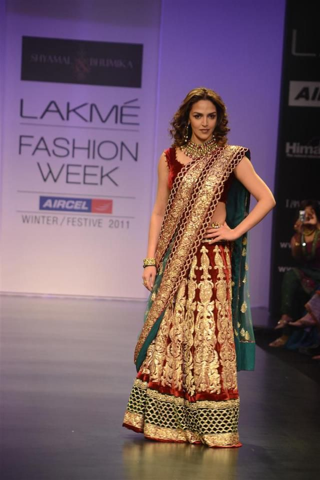 WOW! Velvet Lehenga... Looks AMAZING! #eshadeol #fashion #indianfashion #bollywood