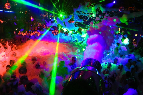 Foam Party In Ibiza, Spain
