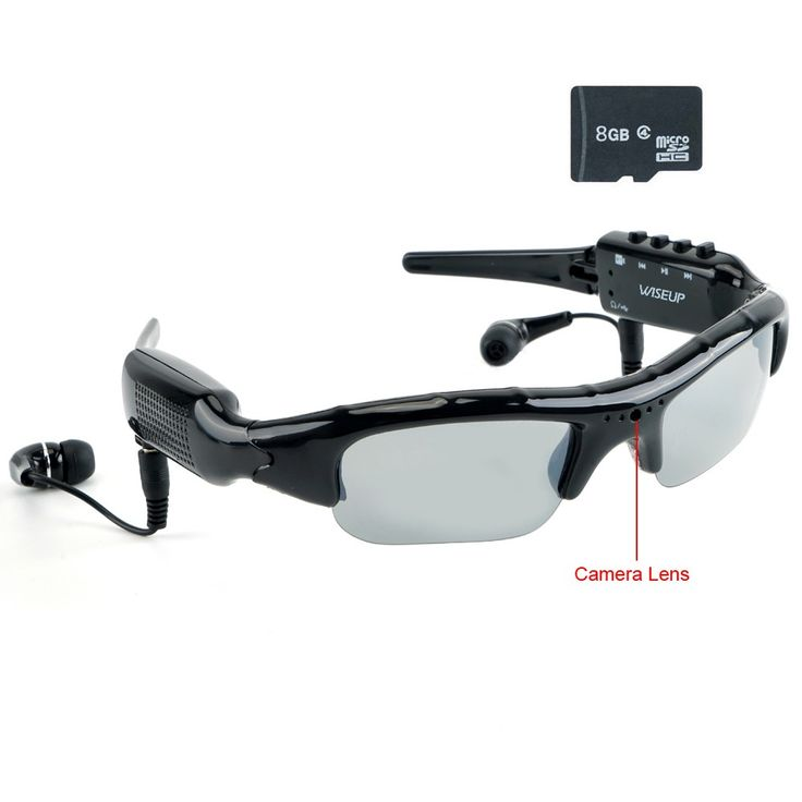 $34, Wiseup 8GB Spy Camera Glasses MP3 Music Player Headset with Audio Video Recording and Photo Taking Function
