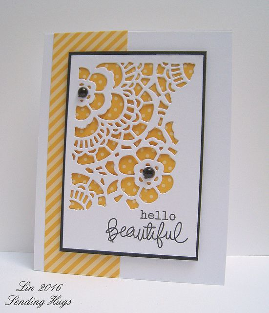 Beautiful Doily - I think I have some of these die cuts and never knew how to use them.