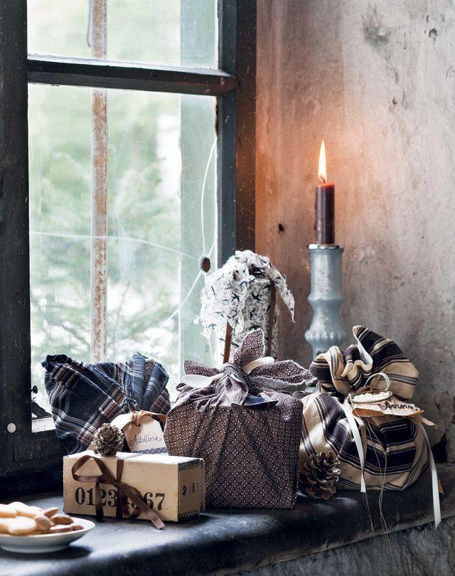 Met stof pak je je cadeautjes voor de feestdagen eens op een andere manier in