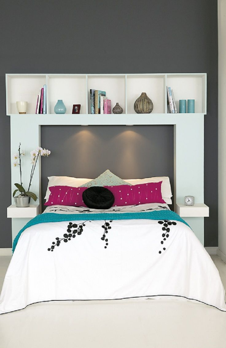 1000 ideas about headboard shelves on pinterest. Black Bedroom Furniture Sets. Home Design Ideas