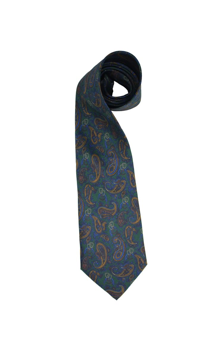A beautiful Italian design vintage silk tie from Gino Rossini. Paisley print with champagne glasses, 100% silk, made in Italy.