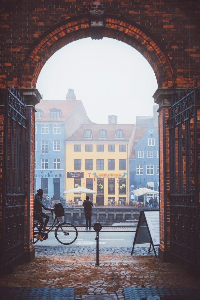 View from Charlottenborg Palace courtyard through the arched entranceway   ***Foggy Nyhavn (Copenhagen, Denmark) by Julia Dávila-Lampe on 500px