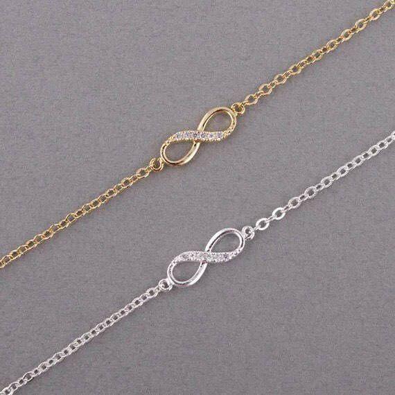 Delicate Infinity Bracelet, Dainty Jewelry, Crystals, Dainty Bracelet, Gift Ideas, Simple Bracelet, Gifts, Minimalist Gift, Couple, Birthday by MissFitBoutiqueCA on Etsy https://www.etsy.com/ca/listing/562782232/delicate-infinity-bracelet-dainty