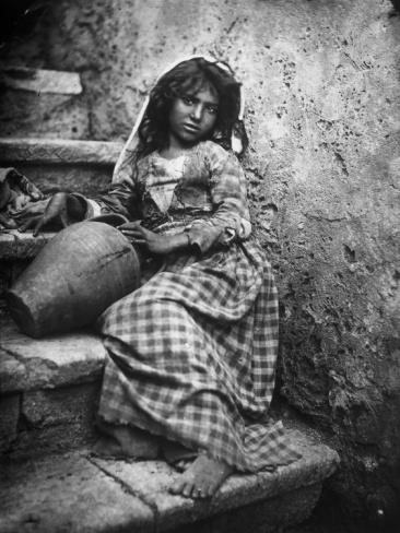 Portrait of a Sicilian Girl Photographic Print at Art.com