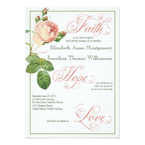 246 best Christian Wedding Invitations images on Pinterest