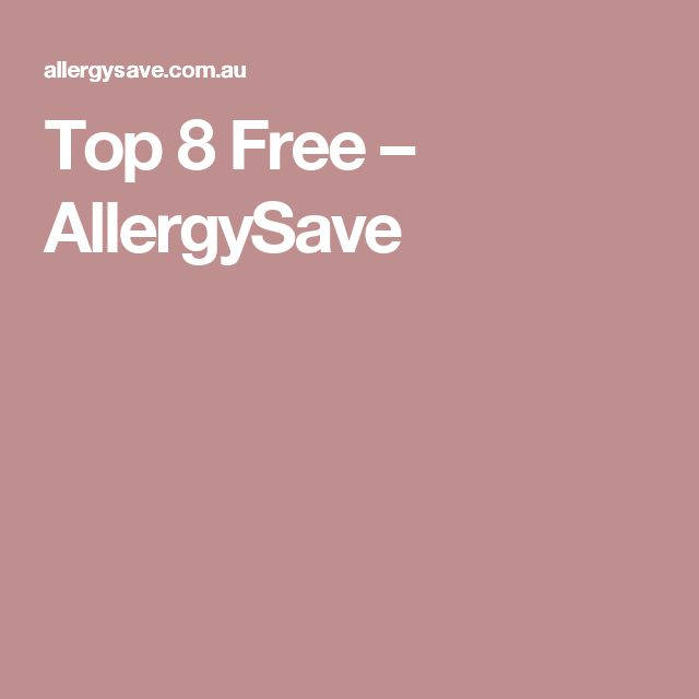 Top 8 Free – AllergySave