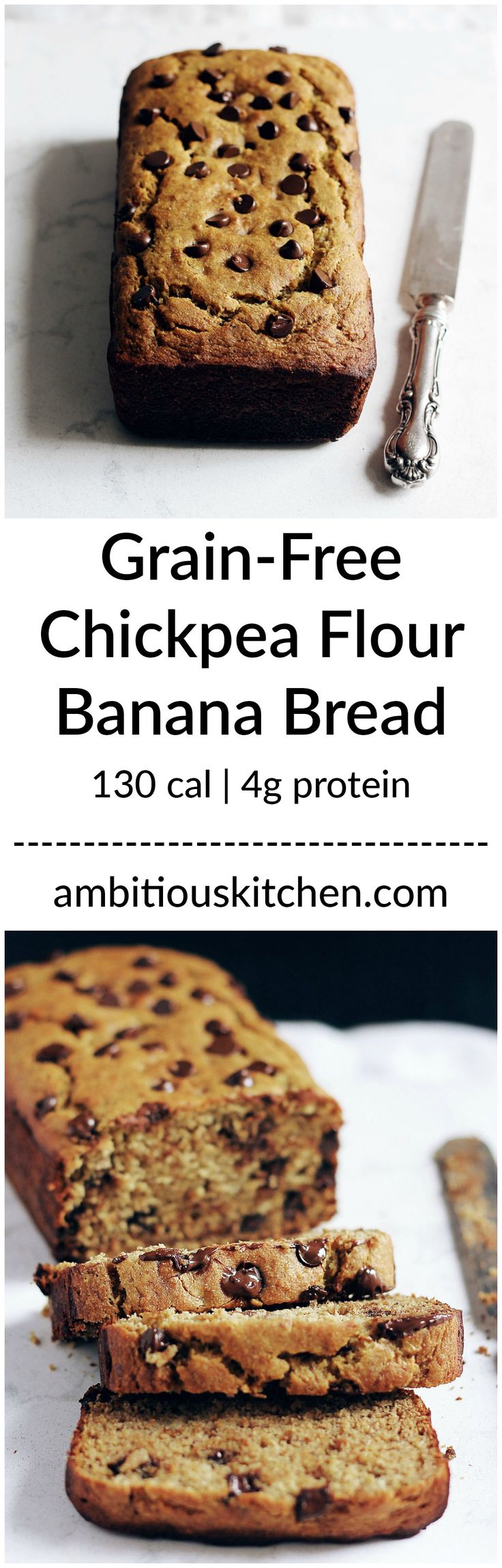 Try this beautiful chickpea flour banana bread packed with protein & fiber. You can't tell that it isn't made with regular flour! I use applesauce instead of honey. Yum.