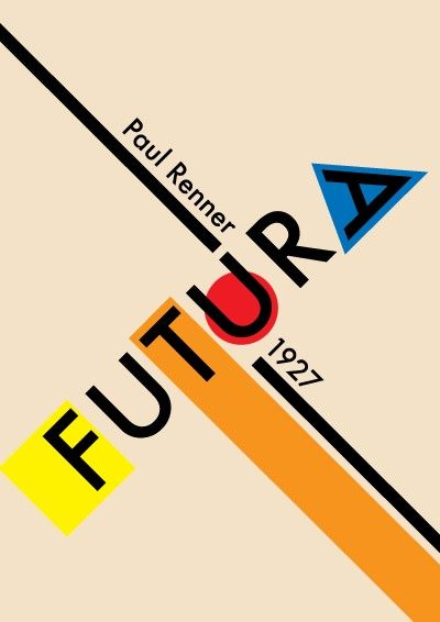 1927. Paul Renner (1878-1956) was the creator of the Futura font which became one of the most successful & most-used types of the 20C. He created a new set of guidelines for good book design and invented the popular Futura, a geometric sans-serif font used by many typographers throughout the 20th century and today.