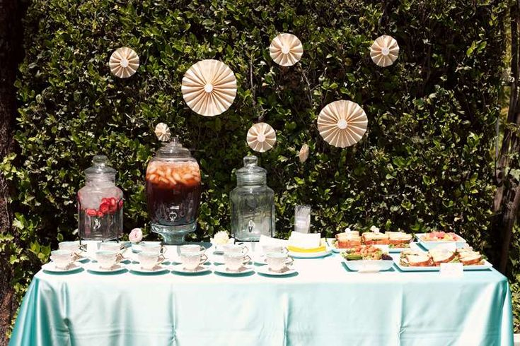 Tiffany Blue Bridal Shower | CatchMyParty.com