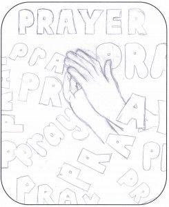 picture about prayer drawn by a child aged 12 or under as