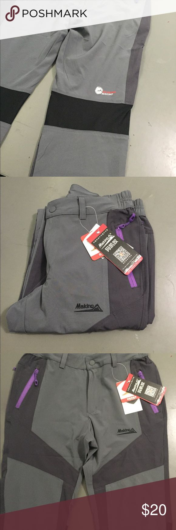 Makino women's hiking pants Makino women's outdoor hiking pants . These are windproof and are a soft shell. makino Pants Track Pants & Joggers