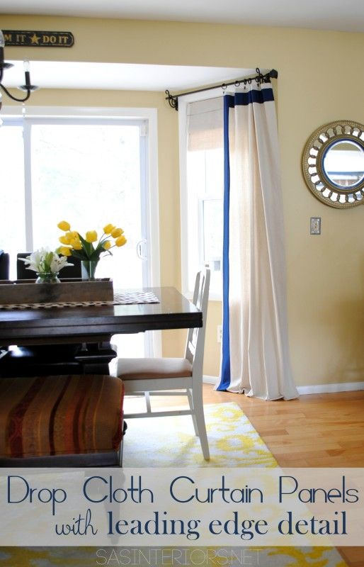 Window Treatments For Less Part - 45: DIY: Drop Cloth Window Panels With Leading Edge Detail. High-end Look For