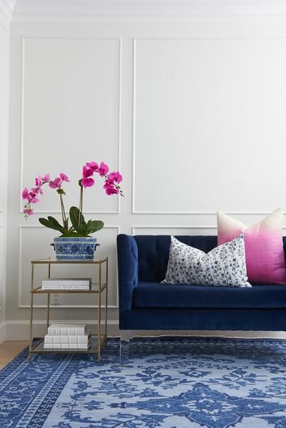 A stunning over-dyed Persian rug created in perfect neutral shades of navy. Dress it up with coordinating pillows or juxtapose it with casual furnishings for a layered look. From foyers to dining rooms, bedrooms, and kitchens- this versatile rug works beautifully for both the modern and traditional. | Caitlin Wilson