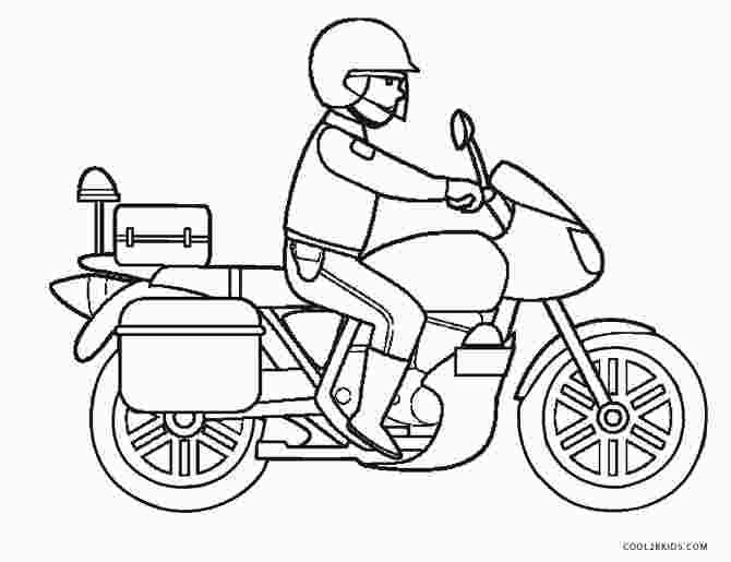 Police Motorcycle Coloring Pages With Images Coloring Pages
