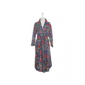 Kimono Bird Robe - Blue