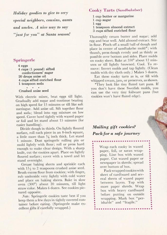 Vintage christmas cookie recipes from a 1959 better homes - Better homes and gardens cookbook 1968 ...