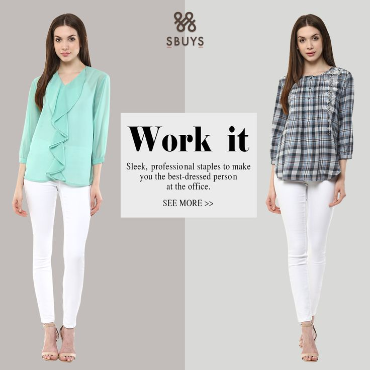 Work it UP! Revamp your everyday office wardrobe. Check out classic silhouettes perfect for office wear at sbuys.in  #officewear #classicformals #lastestfashion #FashionAtWork #affordablefashion #LooksandStyles