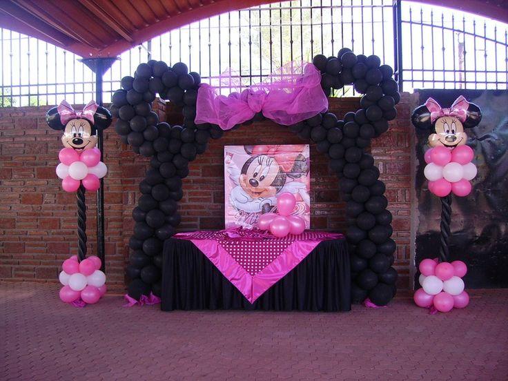 Decoracion Minnie Mouse ~ Minnie Mouse Arco de Globos Arch, Decoration With, Decoration, Party