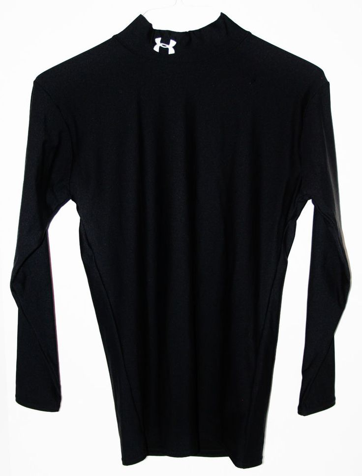 Under armour fitted long sleeve shirt black sz large men for Beast mode shirt under armour