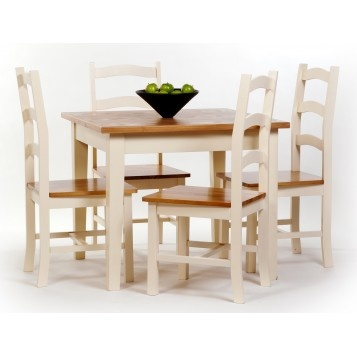 Jamestown Square Dining Set - Painted MDF & Ash Wood £329.99 #diningsets #diningtable #countryfurniture #furniture