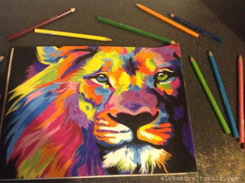 #Lion #Draw #Colors