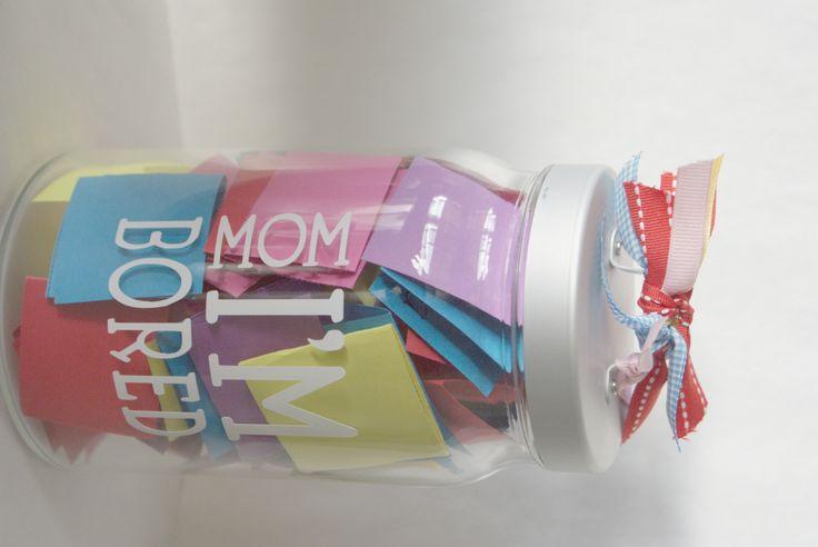 "Perfect Summer Boredom Buster- The ""Mom, I'm Bored"" jar!"