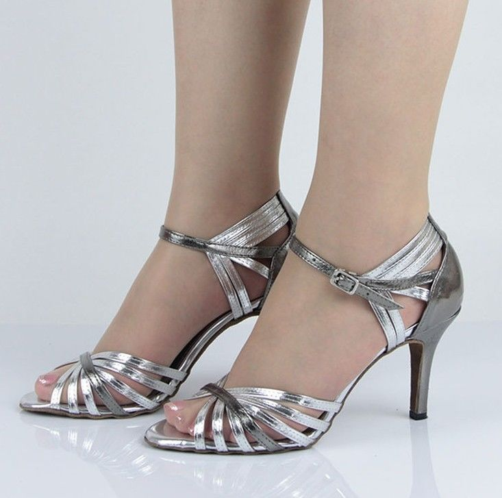 Ladies Leather Ballroom Latin Salsa Dance Shoes SALSA Dancing Shoes 3,4,5,6,7,
