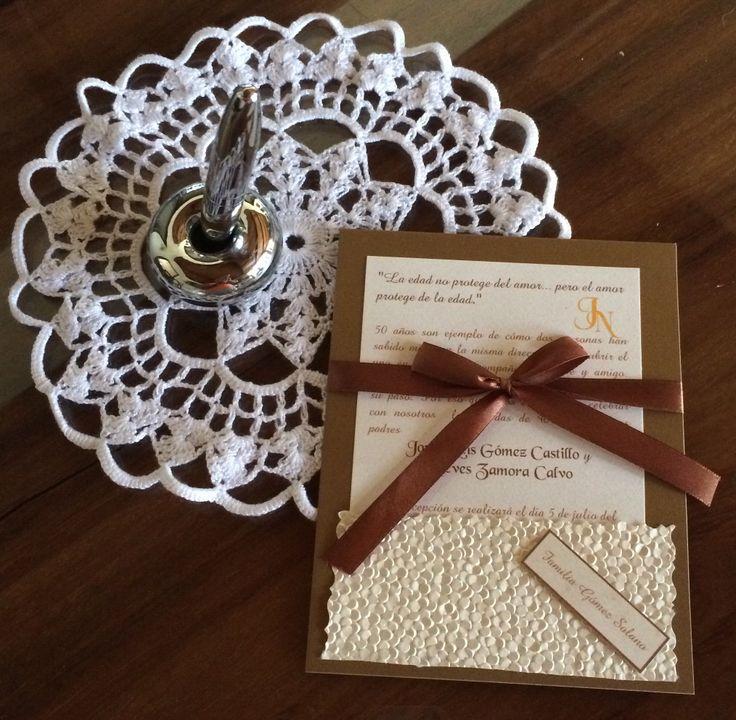 Invitación de 50 años de matrimonio