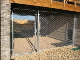 Outdoor Dog Run with Stone Kennel Flooring