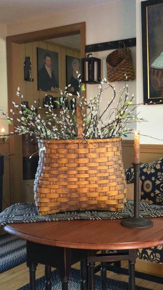 From Maryann Kirvilaitis-Roche, simply prim mustard basket.