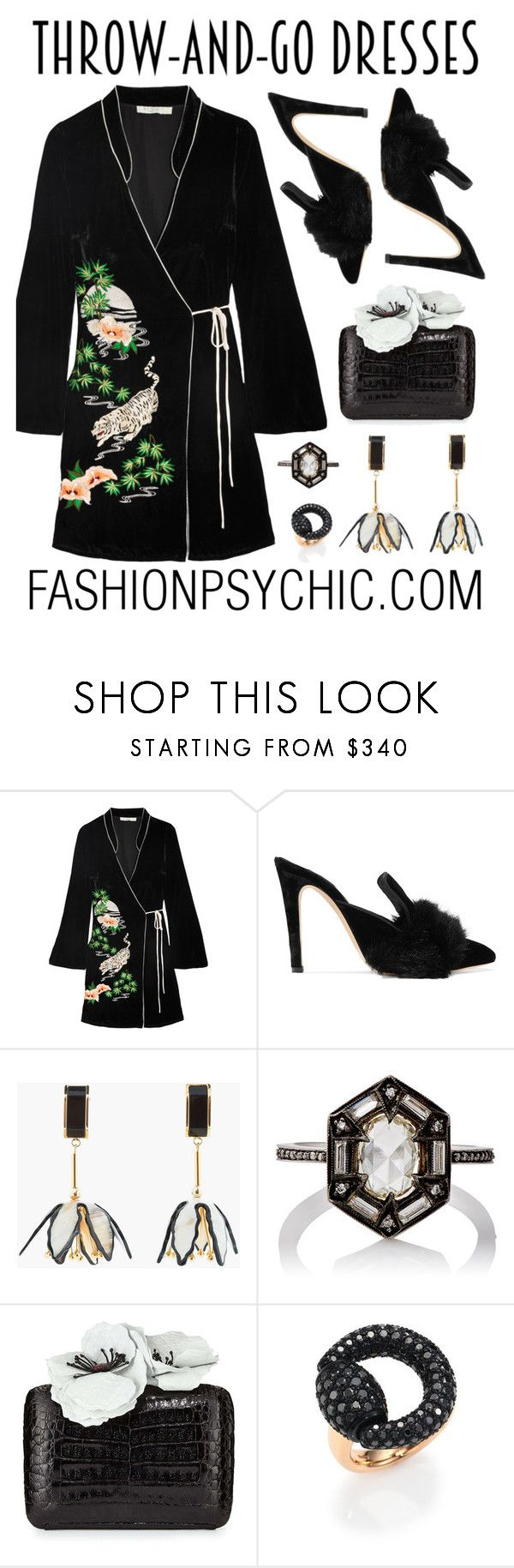 """""""Throw And Go Dress"""" by fashionpsychic on Polyvore featuring RIXO London, Sanayi 313, Marni, Cathy Waterman, Nancy Gonzalez, Gucci and easydresses"""