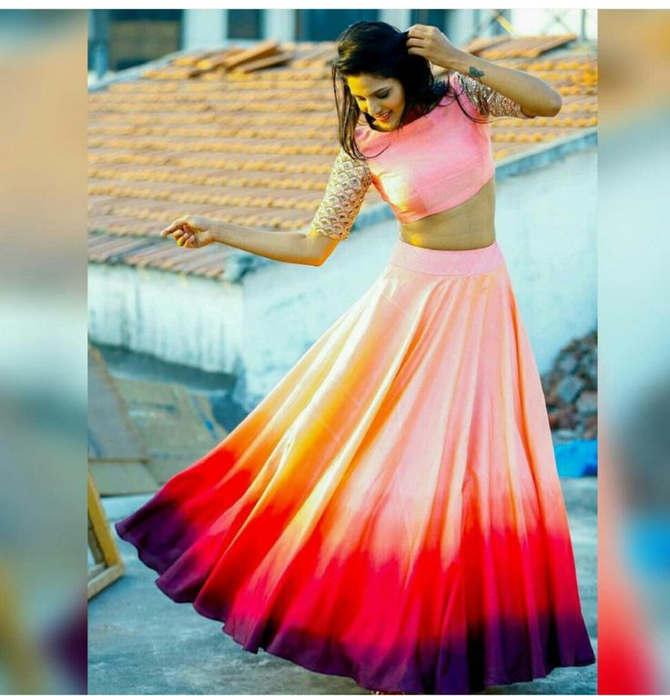 Beautiful three shade lehenga made by sv elegance for more info please call 6478990487