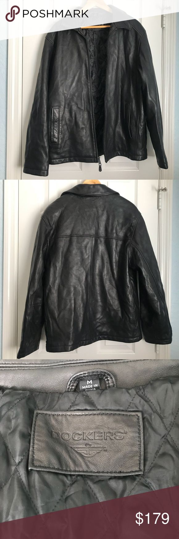Dockers Men's Leather Jacket Leather jacket, Jackets