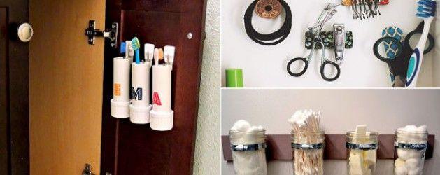11 ideas para aprovechar el espacio en ba os peque os la for Aprovechar espacios pequenos