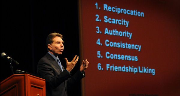 Dr Robert Cialdini - when you want understand Influence without the Hype and the Tree Hugging..