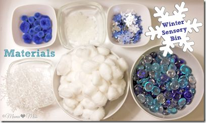 Winter Sensory Bin with Word Recognition {mama♥miss} ©2012